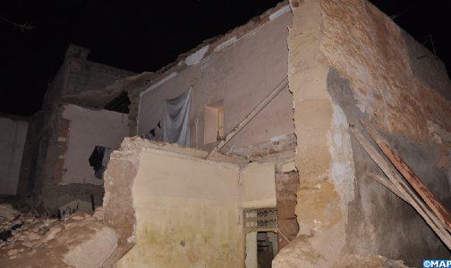 صورة مصرع سيدة في انهيار منزل ببني ملال