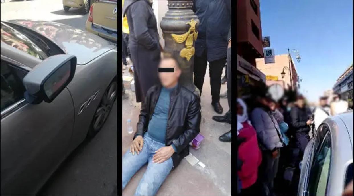 صورة اعتداء صاحب سيارة فارهة على سائق طاكسي يهز شارع محمد الخامس بمراكش