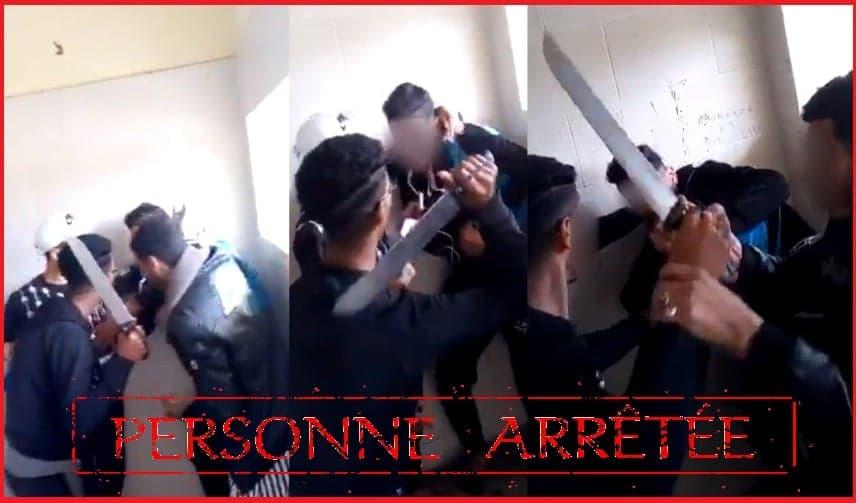 """صورة توقيف تلميذ هدّد زميلاً له بواسطة سلاح أبيض داخل """"مرحاض"""" مؤسسة تعليمية"""