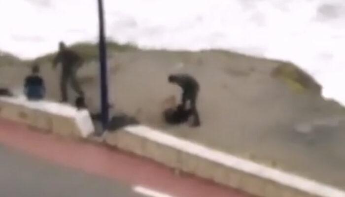 التحقيق في تداول شريط يوثق لاعتداء رجل قوات مساعدة على شخص