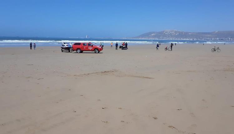 صورة البحر يلفظ جثة مفقود بشاطئ أكادير