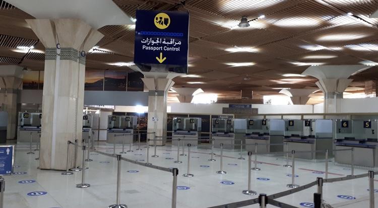 صورة انخفاض حركة المسافرين بمطار أكادير بنسبة 81 في المائة