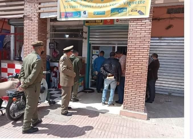 صورة مفاجأة صادمة .. الأمن يفك لغز سرقة وكالة لتحويل الأموال بمراكش