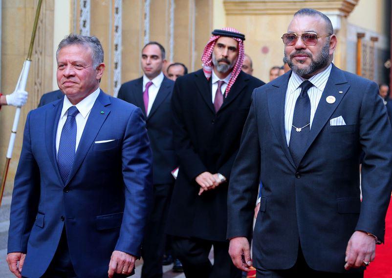 صورة محمد السادس يدعم قرارات ملك الأردن