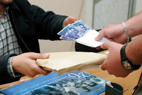 صورة اعتقال خليفة قائد بمراكش متلبسا بتلقي رشوة 600 درهم