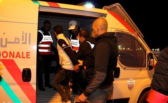 """صورة توقيف شخصين أحدهما شرطي بـ""""الديستي"""" متلبسين بحيازة الكوكايين"""
