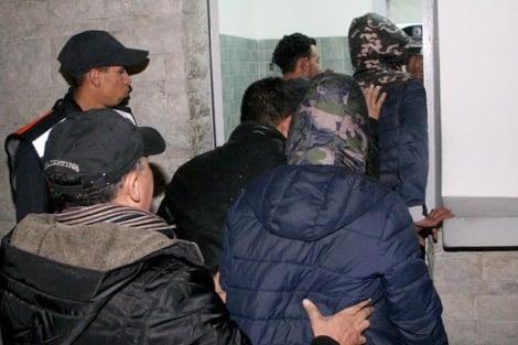 صورة ضبط 13 مرشحا للهجرة غير الشرعية موزعين بفنادق إنزكان