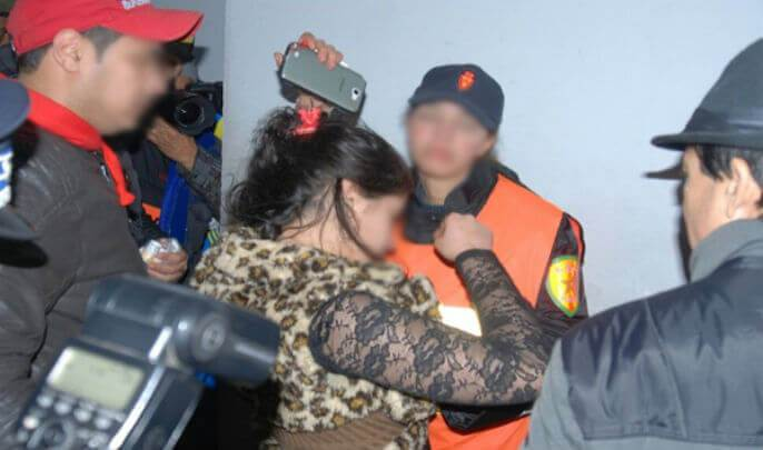 """صورة اعتقال شرطية """" مزيفة """" تبتز تجار الدار البيضاء"""