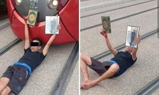 صورة اعتقال  أربعيني عرقل سير الطرامواي بالبيضاء