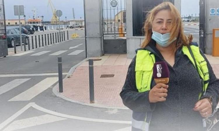 """صورة اعتقال مراسلة قناة """"شوف تيفي """" داخل سبتة"""