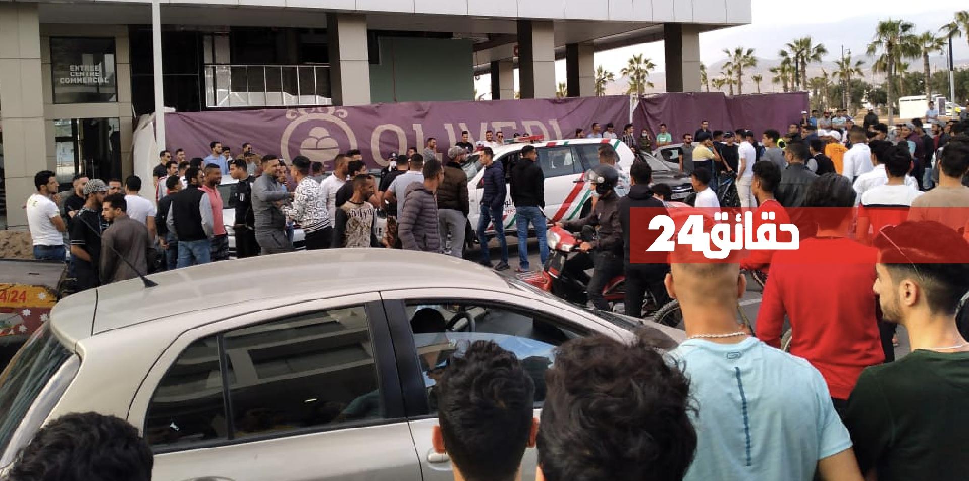 صورة أكادير .. صدام بين رجال الأمن وأصحاب الدراجات النارية