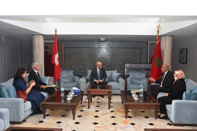 صورة رئيس جماعة أكادير يستقبل سفير دولة سويسرا بالمغرب