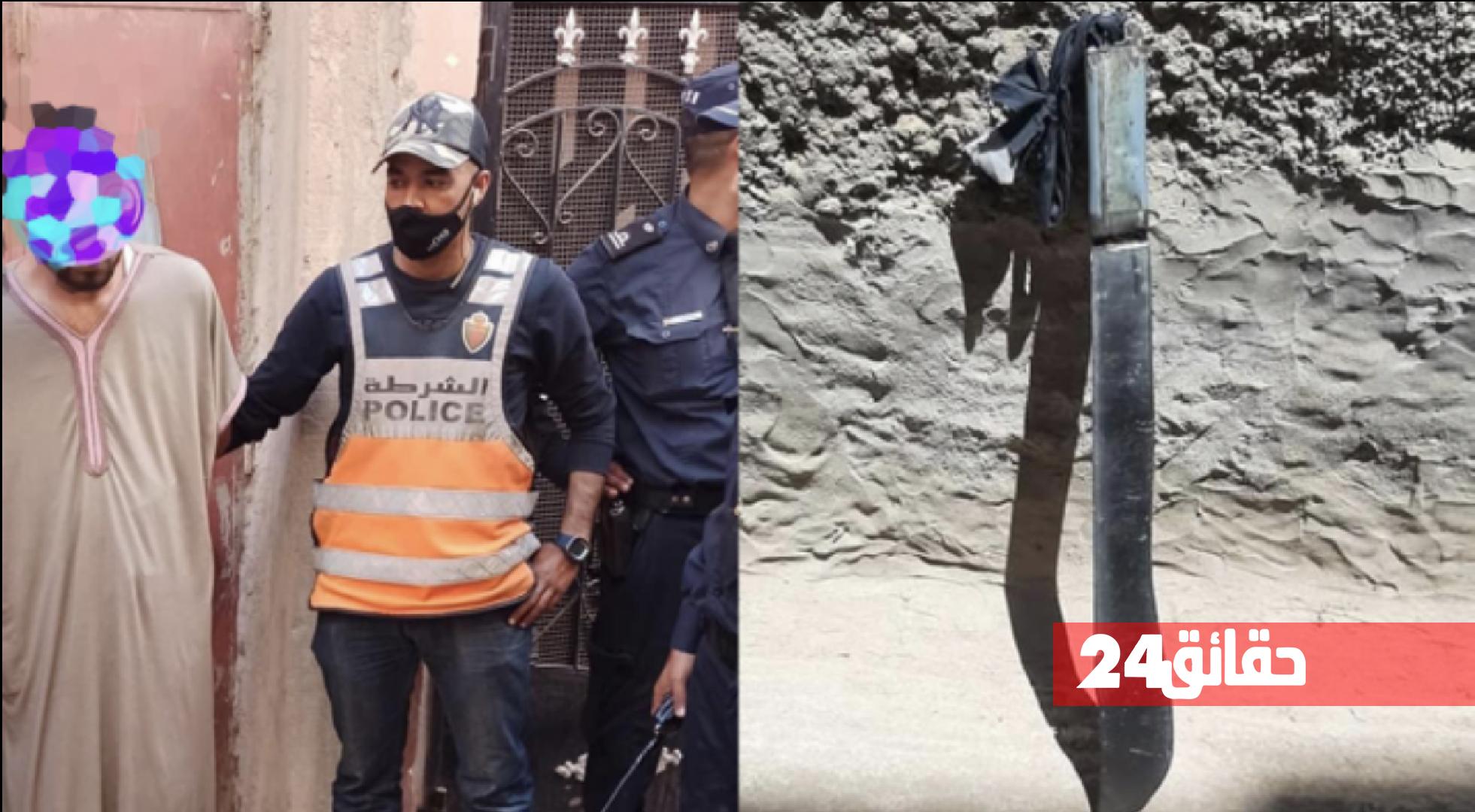 """صورة اعتقال """"مول الشاقور"""" الذي دوخ أمن أيت ملول"""