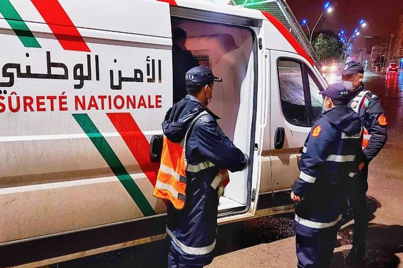 """صورة اعتقال """" لص """" مختص في سرقة الصيدليات بمراكش"""