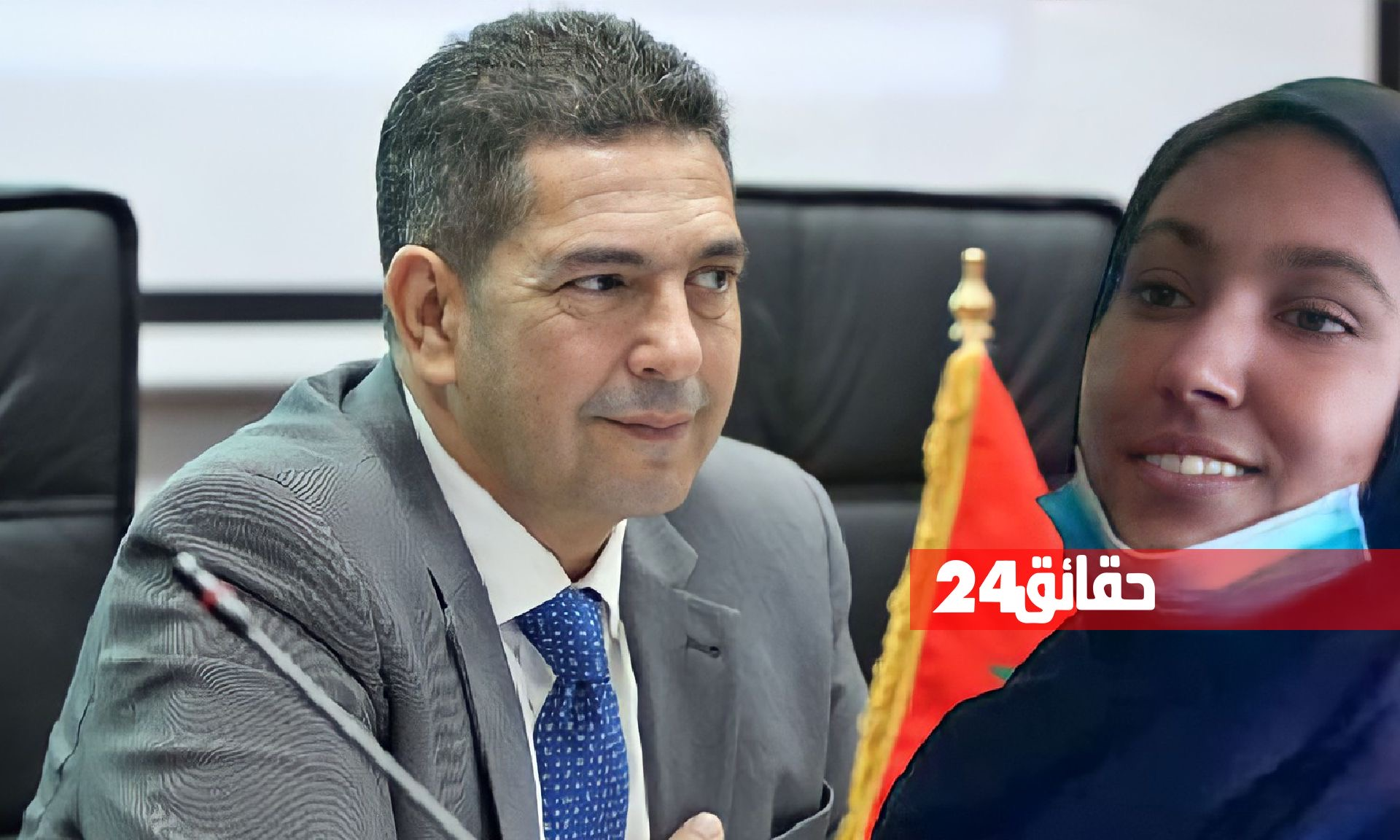 صورة أمزازي يتفاعل مع التلميذة التي اتهمت بالغش في الإمتحان