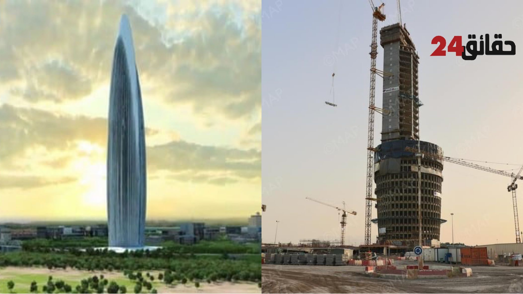 صورة برج محمد السادس .. نسبة إنجاز الأشغال تصل إلى 75 بالمائة
