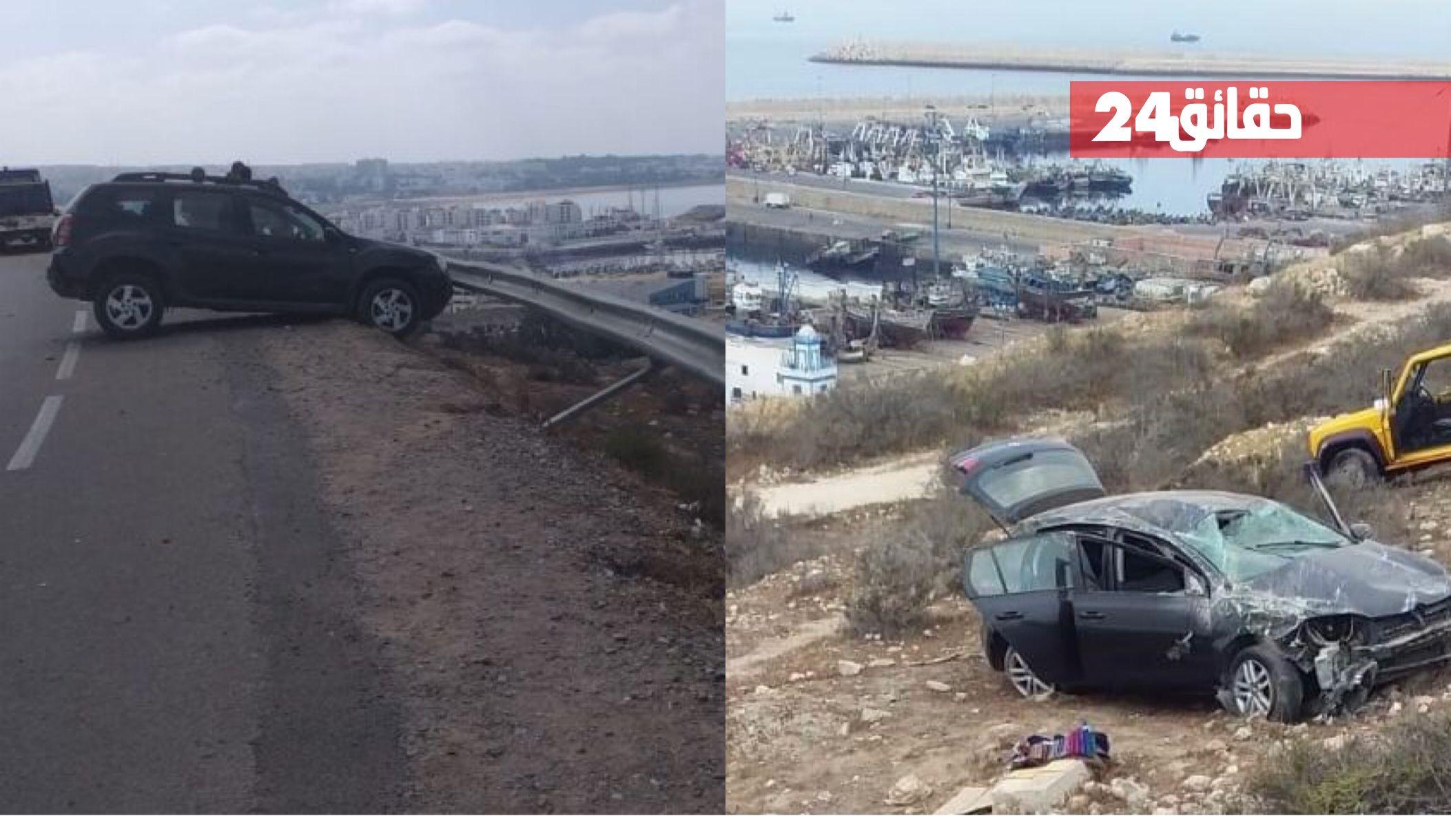 """صورة أكادير .. """"سباق سيارات """" يؤدي إلى وقوع حادث سير خطير"""