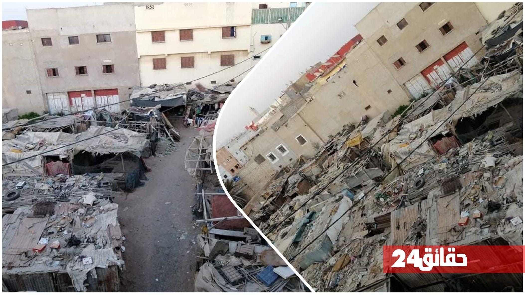 """صورة أكادير : """"سوق عشوائي"""" على بعد أمتار من القصر الملكي يثير سخط ساكنة بن سركاو"""