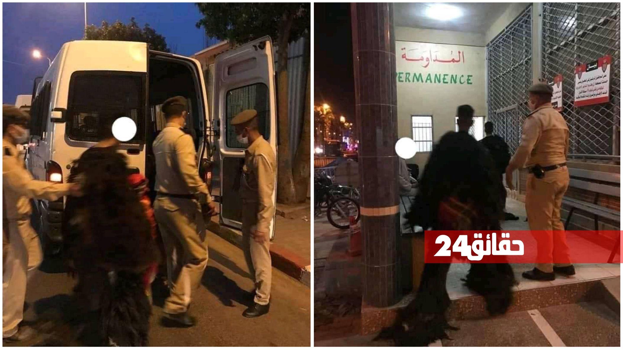 """صورة اعتقالات بالجملة في احتفلات """"بوجلود"""" بأولاد تايمة"""