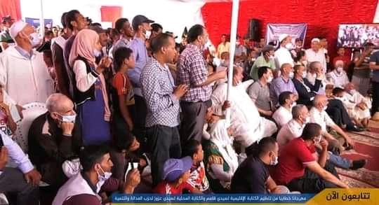صورة العثماني يخرق التدابير الاحترازية ويعقد لقاء انتخابي مكتض بالمواطنين
