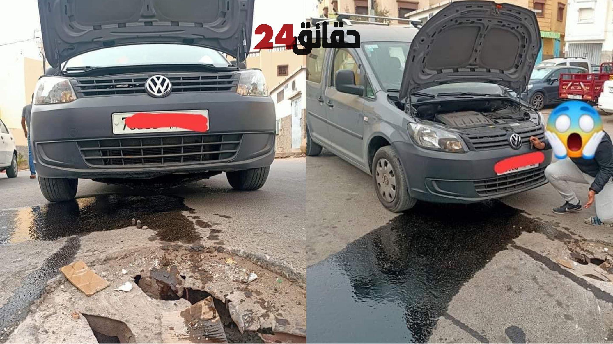 صورة حفر ومطبات عشوائية تتسبب في خسائر لأصحاب السيارات بحي تدارت – أنزا