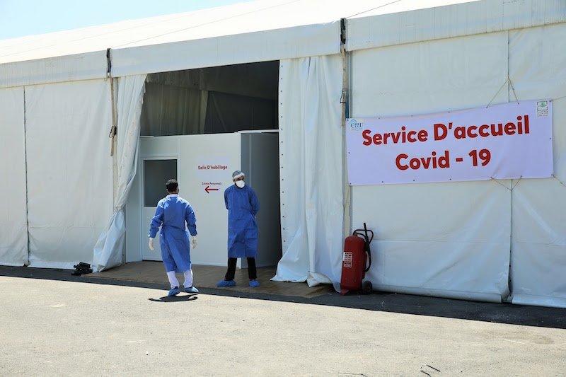 صورة إقامة مستشفى ميداني لمرضى كوفيد-19 بكلميم