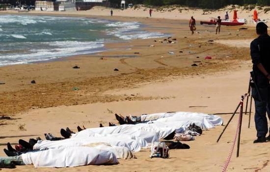 صورة غرق 18 شابا وشابة في عرض البحر المتوسط