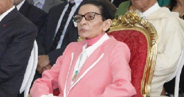 صورة وفاة عمة الملك محمد السادس لالة مليكة