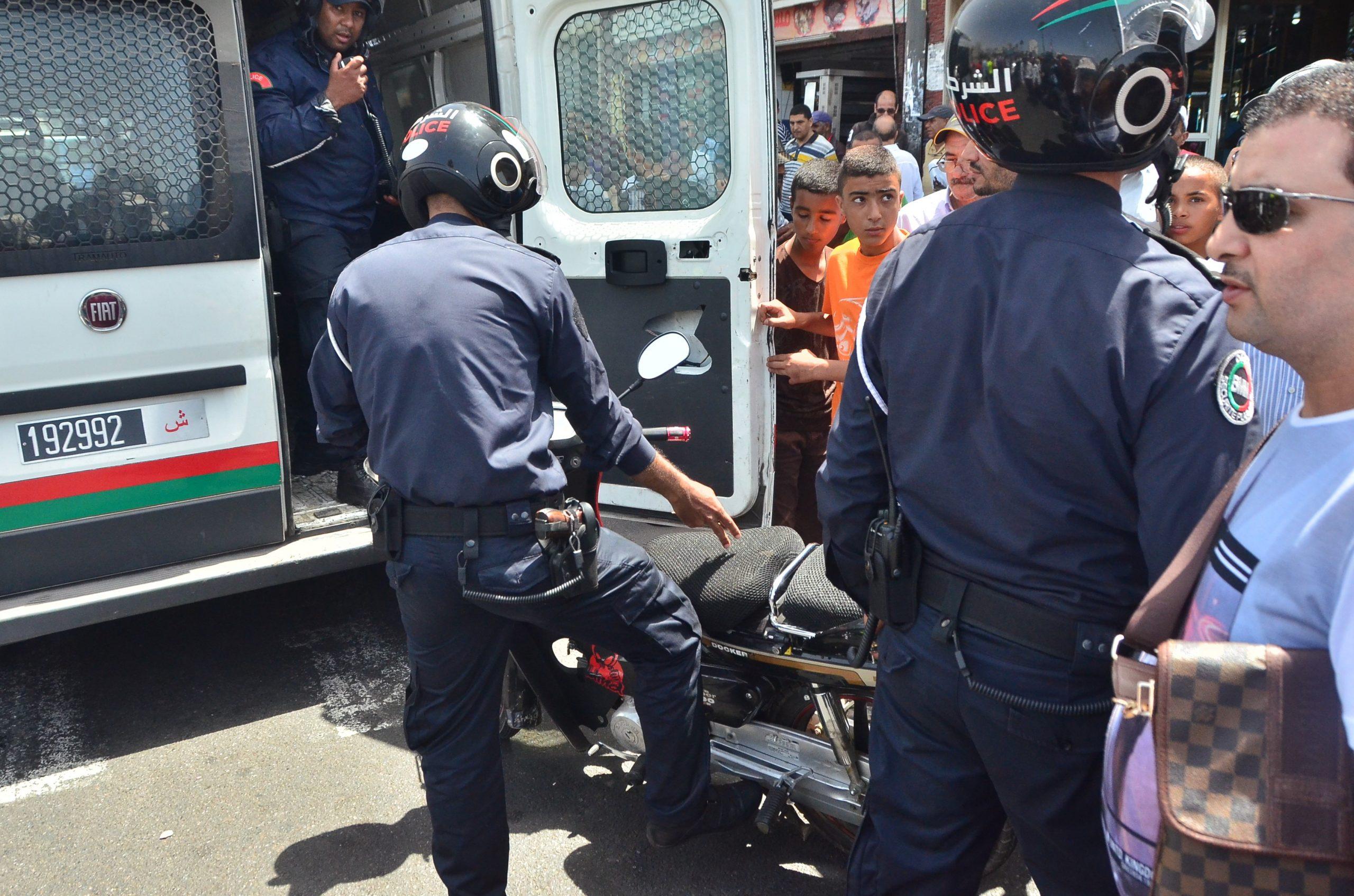 صورة اعتداء بشع على شرطي مرور بأكادير
