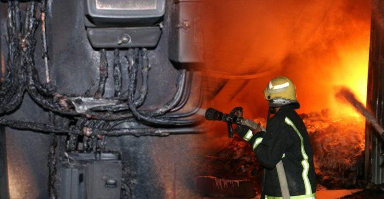 صورة تماس كهربائي يتسبب في حريق منزل بحي ليراك بأكادير