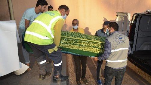 صورة وصول جثماني السائقين إلى أكادير