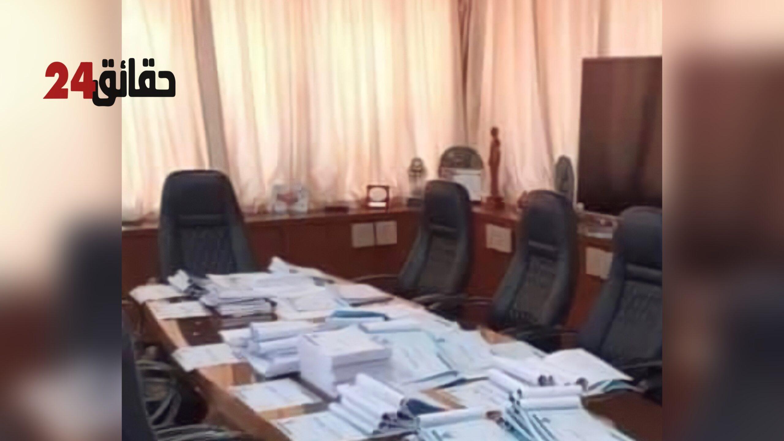 صورة المالوكي يوقع محاضر تسليم السلط ليلا ويتحاشا لقاء أخنوش بعد هزيمة المصباح في عاصمة سوس