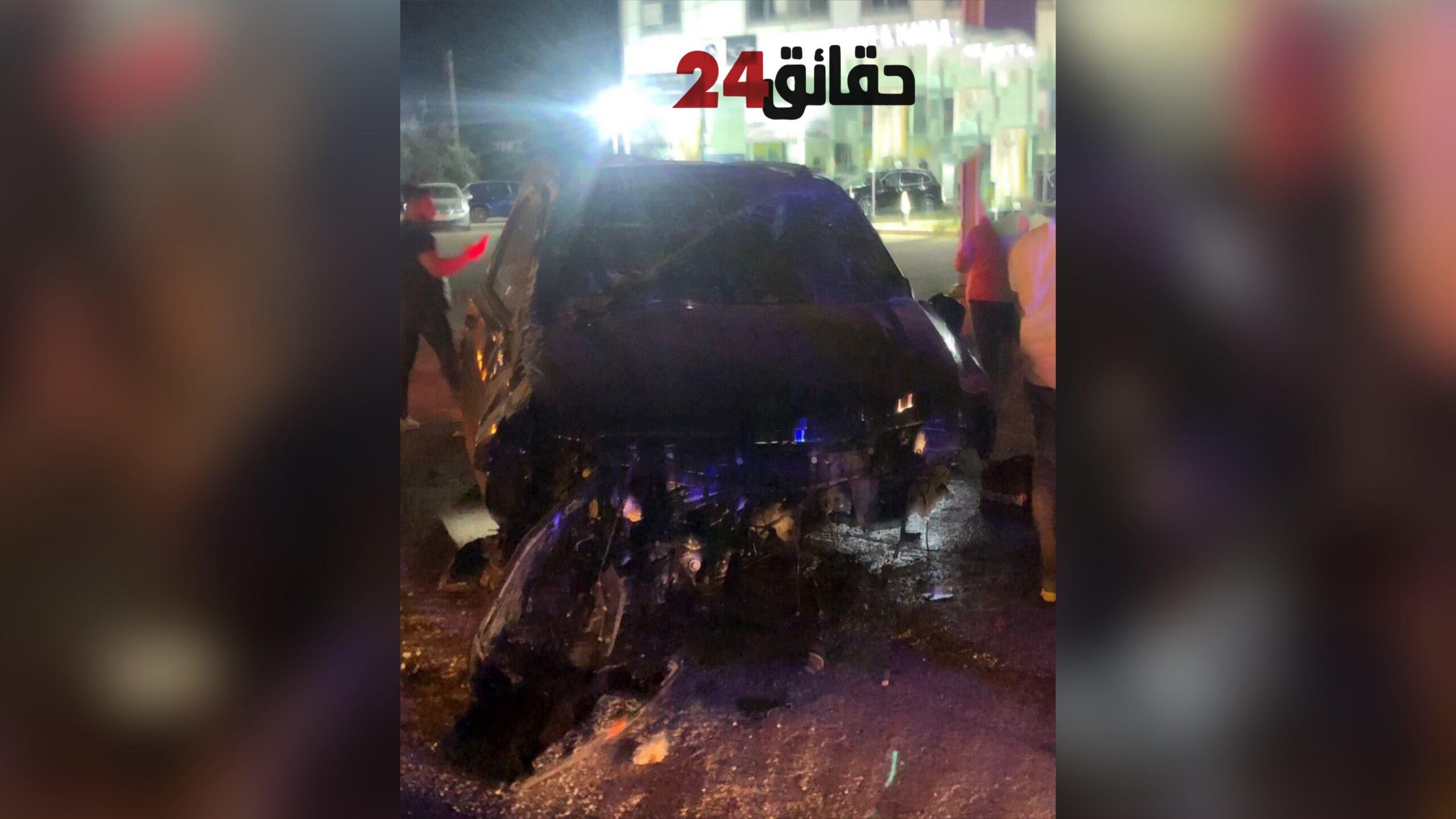 صورة بالصور .. الفنان اللبناني وائل كفوري يتعرض لحادث سير مروع