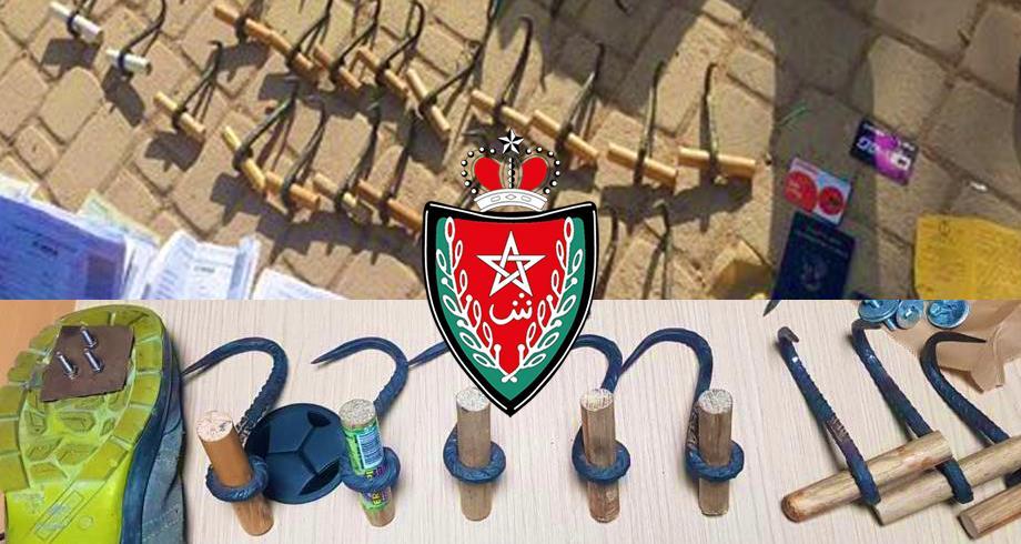 صورة إجهاض مخطط لتنظيم عملية للهجرة غير الشرعية عن طريق تسلق السياج الحديدي بين الناظور ومليلية